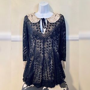 Free People long sleeve lace dress worn once!